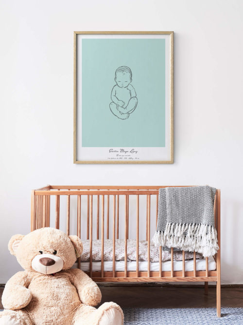 Birth Poster Personalized Baby Poster Kids Room Name Poster positiveprints